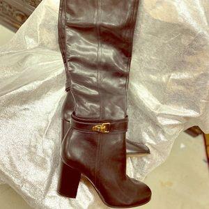 Over the knee Sam Edelman black leather boots NWT